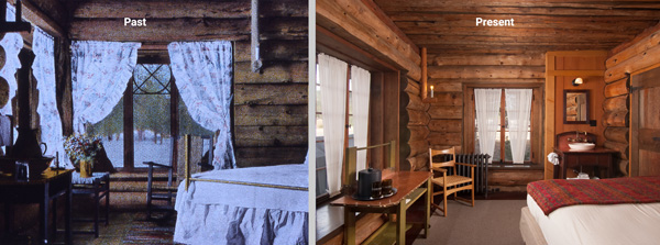 old faithful inn bedroom past and present
