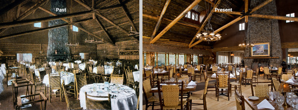 old faithful inn dining room past and present