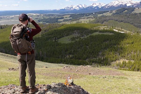 Glassing a hillside along the Sepulcher Mountain Trail